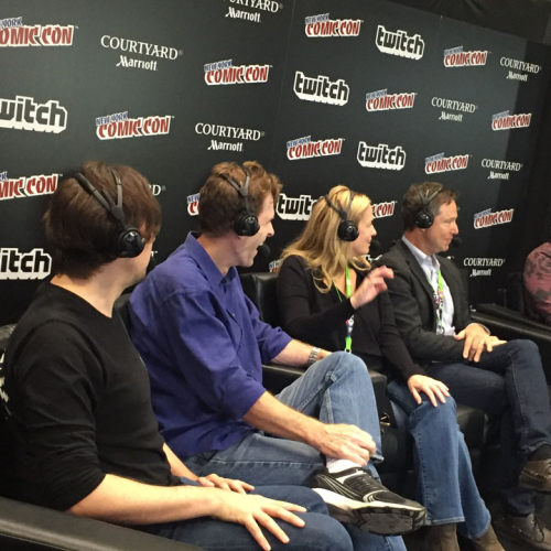 Justice League Reunion Interview at NYCC 2015 - Kevin Conroy, Susan Eisenberg and George Newbern