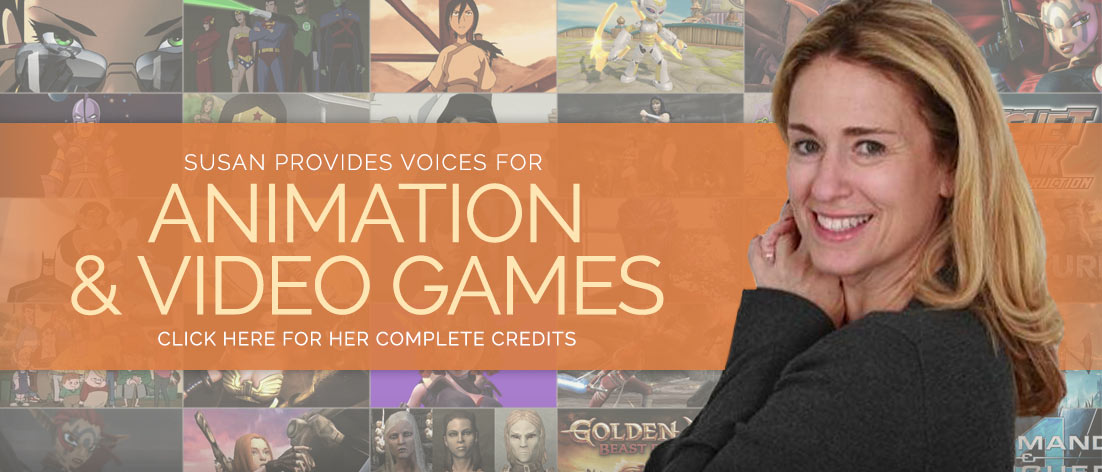 Susan Eisenberg provides voices for Animation & Video Games