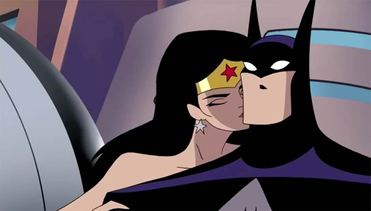 Wonder Woman Kisses Batman
