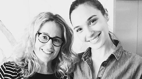 When Wonder Woman met Wonder Woman - Susan Eisenberg and Gal Gadot