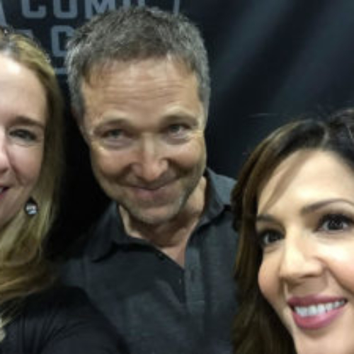 Susan Eisenberg with George Newbern and Maria Canals-Barrera