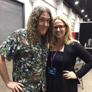Susan Eisenberg with Weird Al Yankovic at Denver Comic Con 2017